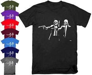 BANKSY VADER Pulp Fiction Star Wars T Shirt Top Funny Joke Parody Gift S - 5XL