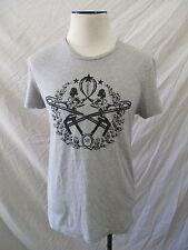 ALEXANDER McQUEEN gray cotton women athletes slim fit t-shirt MEDIUM