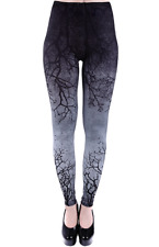Restyle Gray Branches Leggings Gothic Occult