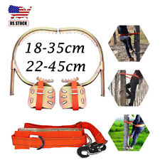 Adjustable Tree Climbing Spike Gear Wooden Pole Foot Buckle with Safety Harness