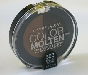 New Maybelline Color Molten Eye Studio Duo Eye Shadow-302 Endless Mocha