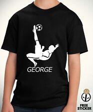 Football Kids T shirt Custom Name Personalised Boys Sports Gift Wear Teenager