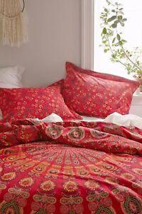 Indien Duvet Doona Cover Comforter Hippie Boho Queen Size Mandala Duvet Cover