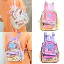 Girl Mini Lovely Clear Backpack Transparent Satchel Laser Shoulder Bags Handbag