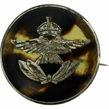 WW2 Royal Air Force RAF Tortoise Shell HALLMARKED SILVER Sweetheart Brooch Badge
