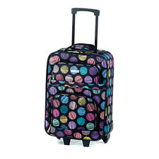 """Geoffrey Beene Rainbow Dots 19"""" Wheeled Carry On Lined Airline Luggage Brand New"""