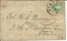 Confederate States of America Sc#3-4 MARGINS(single frank) ATHENS GEORGIA-LOCAL