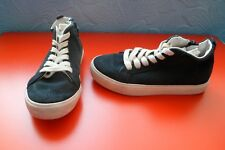 LOVELY NEXT BOYS LEATHER/SUEDE HI-TOP TRAINERS/PUMPS SIZE 11 NAVY BLUE***VGC***