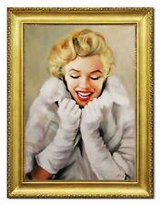 Marylin Monroe Dipinto Immagine Quadri Vero Olio Dipinti Mano Ritratto G96456
