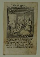 The Butcher/Metzger - Weigel - Baroque Copperplate - Cow in Stable 1698
