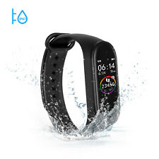 M4 Smart Band Watch Bracelet Wristband Blood Pressure Heart Rate Tracker Black