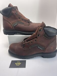 """MENS RED WING 2226 BROWN LEATHER SAFETY 6"""" WORK BOOTS SIZE 11 E2 MADE IN USA"""