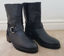 JIGSAW ALSTONE BIKER ANKLE BOOT Black Size 40 New Without Box