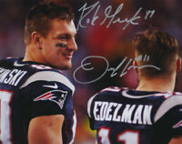 Rob Gronkowski and Julian Edelman Signed Autographed 8 x 10 ( Patriots ) REPRINT