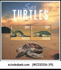 TUVALU - 2014 SEA TURTLES / MARINE LIFE - MINIATURE SHEET MINT NH