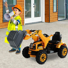 6V Kids Ride on Car Digger Excavator Toy Electric Battery Toddler Outdoor Play