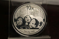 2013 1 oz .999 China Silver Panda Gem BU Original Capsule Spot Free