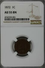 1872  .01  NGC   AU55BN  Indian Head Cent, Indian Small Cent, One Cent