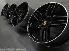 20 Zoll original Porsche Felgen 911 991 4S Turbo Targa Sport Design II black NEU