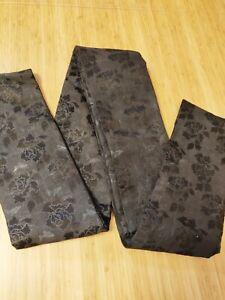 Authentic Vintage Traditional Geisha Black Rose Japanese Obi Belt 10ft Long