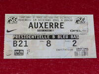 [COLLECTION SPORT FOOTBALL] TICKET PSG / AUXERRE 2001 Champ.France