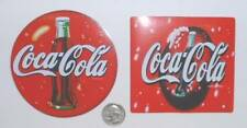 TWO NEW COCA COLA GUMBACK STICKERS