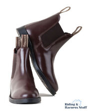 Rhinegold Childrens Classic Leather Jodhpur BOOTS Size 5 Brown