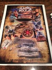 MAD Max 2 Just One Man Can Make A Difference Signed Print