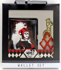 DC Comics Harley Quinn Wallet and Diamond Key Ring Gift Set New In Box!