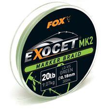Fox Exocet mk2 marker Braid 300m 20lb 0,18mm cbl012 marker trenzado era cuerda