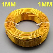 1 mm ALLUMINIO Craft fiorista wire gioielli Golden Rod ORO lunghezze 10 M