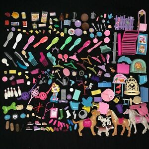 Vintage Barbie Accessories Lot Pet Shop Animals Dogs Brushes Food Kitchen Toys