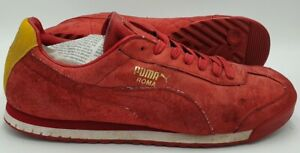 Puma Roma Suede Vintage Trainers 353396-03 Red/White/Gold UK12/US13/EU47