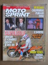 MOTOSPRINT n°49  1989       [Q19]  TEST TOTALE HONDA 125 CRM
