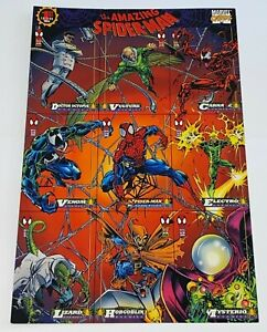 1994 Marvel Comics 1st Edition The Amazing Spider-Man 9 Card Uncut Promo Sheet