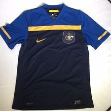 Nike Dri Fit Retro Australia Football Soccer Jersey Dual Blue Yellow Socceroos