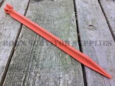 "4 x 11.5"" HEAVY DUTY PLASTIC TENT STAKES - Awning Tarp Pegs Shelter Basha Bivvy"