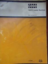 Case 780CK Loader Backhoe Parts Catalog