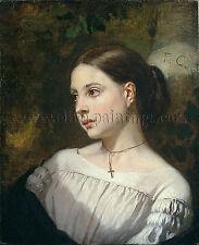 Couture Portrait of a Girl artiste tableau huile sur toile peinture a la main