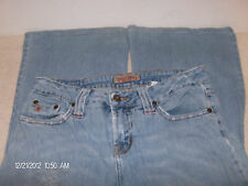 Paris Blues Jeans Juniors Size 5 Flared Legs Well Worn Stretch Frayed