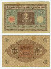 Deutsches Reich Geld Banknote Geldschein 2 Mark 1920 Ro.65a