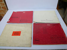 Leica M3 M5 Camera Pradovit & Leica Meter Instruction Hand Book Catalog Manual