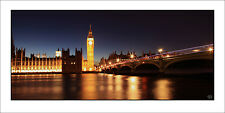 Poster Panorama Big Ben London England United Kingdom Parliament Fine Art Print