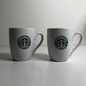 Starbucks 12oz Coffee Mug New Bone China White Coffee Tea Mug Cup -  Lot Of 2