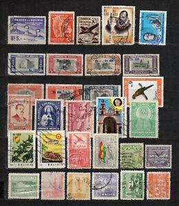 Bolivia stamps lot 30 used  in good condition used as seen, combine shipping