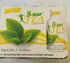 5-Hour Energy Natural Green Tea Shot, Lemonade  6 pack 1.93 oz bottles exp 10/20