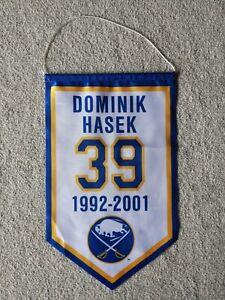 Dominik Hasek Jersey Retirement Night Buffalo Sabres Banner Give Away NHL Hockey