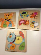 Early Learning Centre Wooden Jigsaw Bundle Pre School X 3