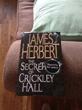 James Herbert Hardback Signed copy Secrets Of Crickley Hall