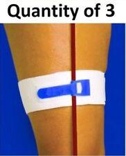 """Package of 3 Catheter Leg Strap 2"""" Wide Catheters Foley Holder Strap Bag Tube"""